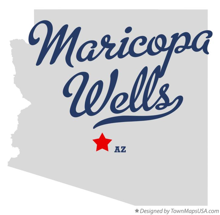 Map of Maricopa Wells Arizona AZ