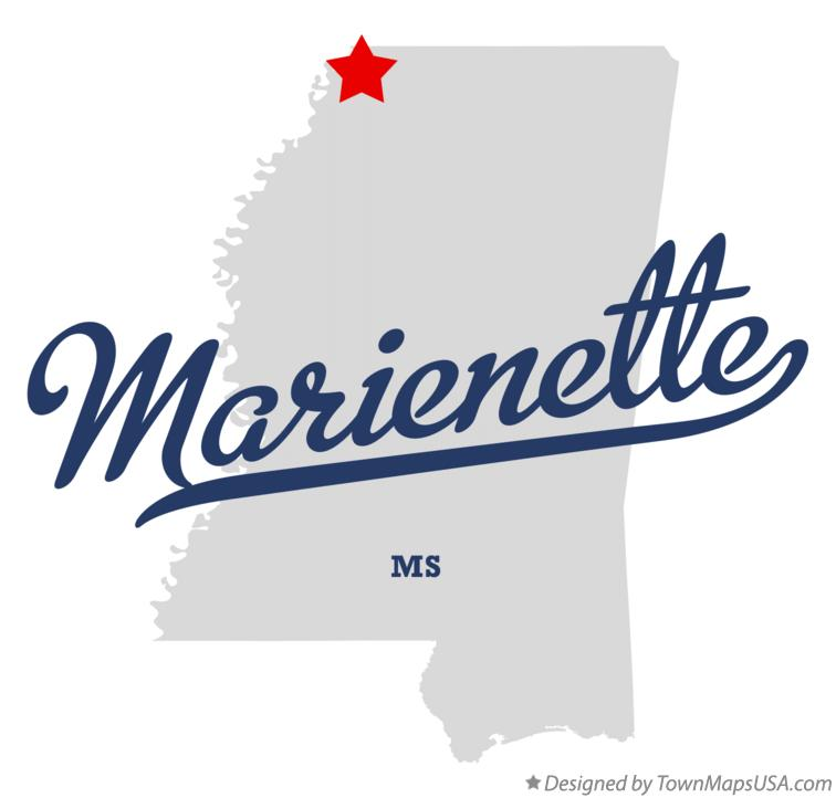 Map of Marienette Mississippi MS