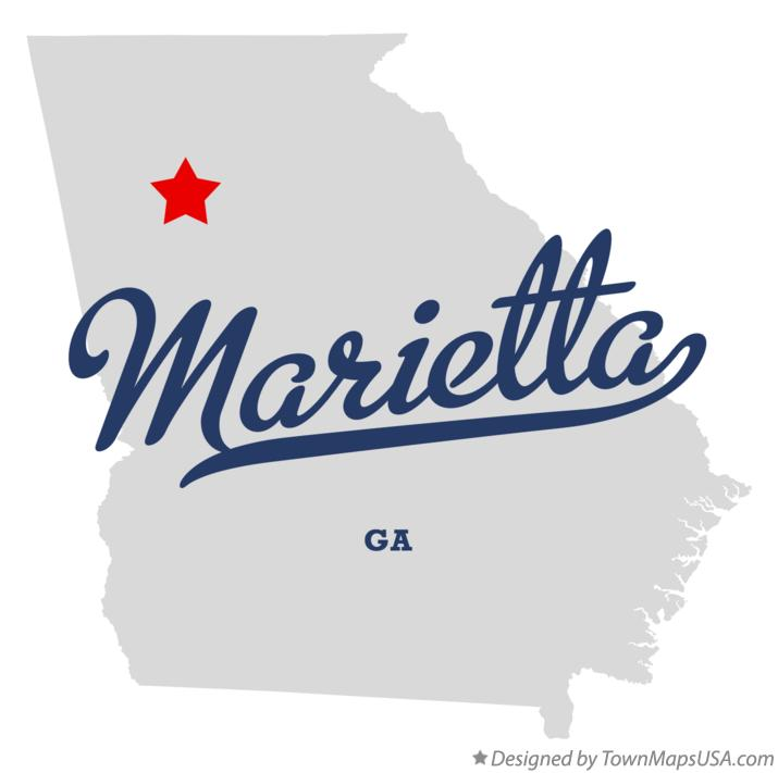 Austell Georgia Map Map of Marietta Georgia ga