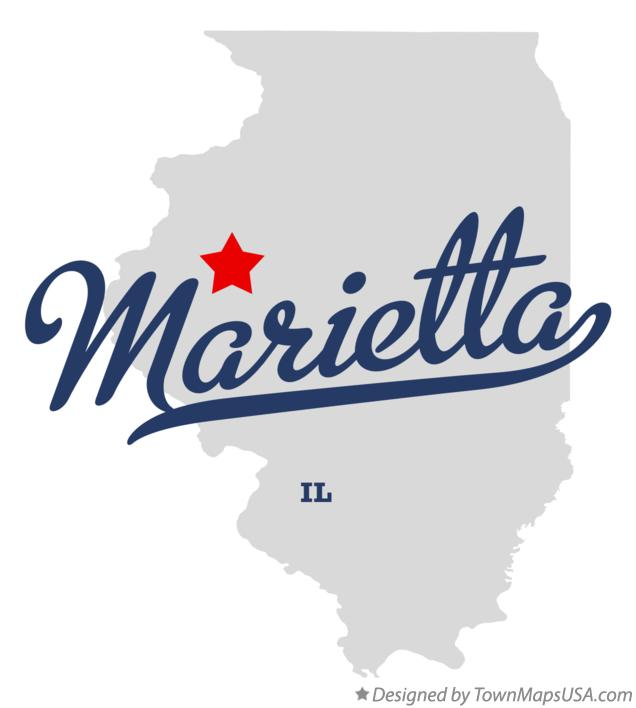 Map of Marietta Illinois IL