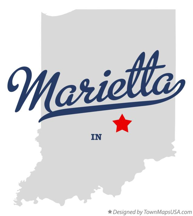Map of Marietta Indiana IN