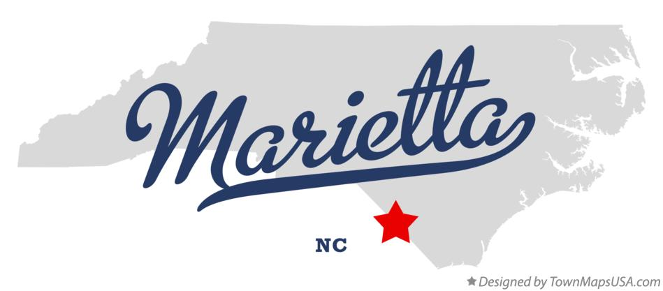 Map of Marietta North Carolina NC