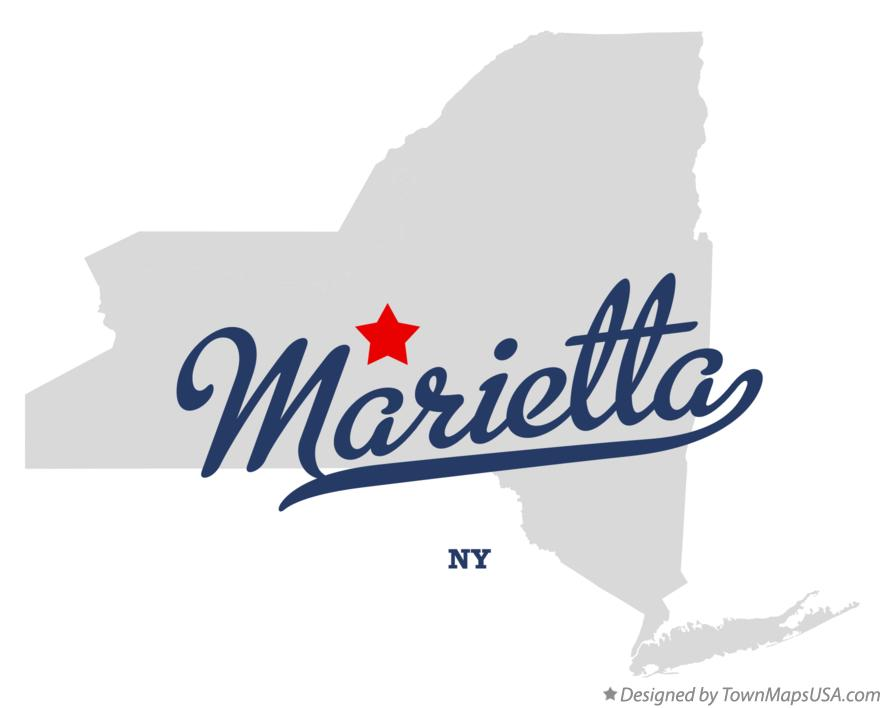 Map of Marietta New York NY