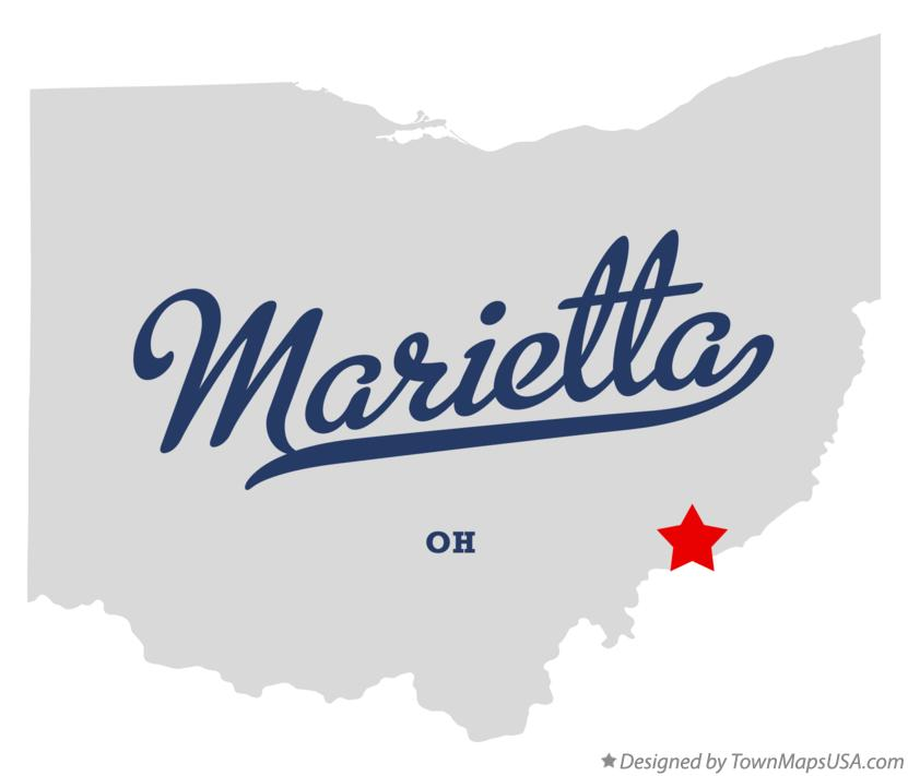 Map of Marietta Ohio OH