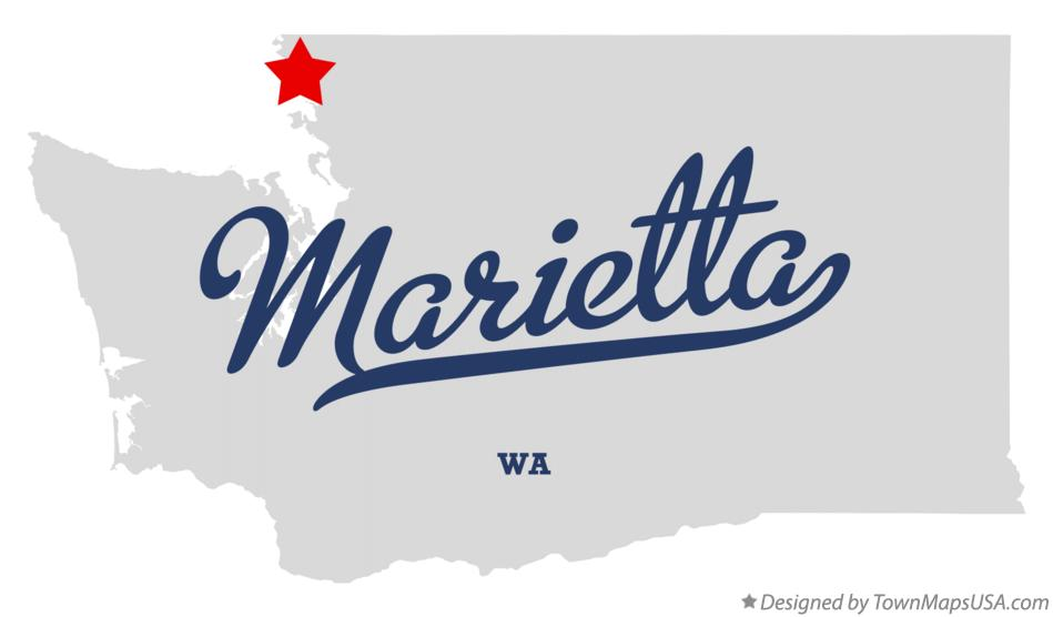 Map of Marietta Washington WA