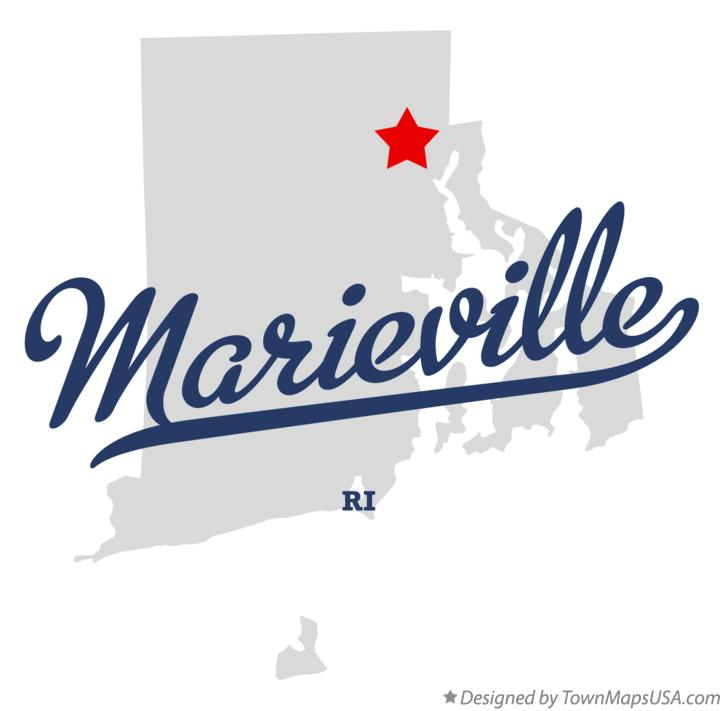 Map of Marieville Rhode Island RI