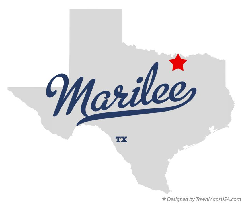 Map of Marilee Texas TX