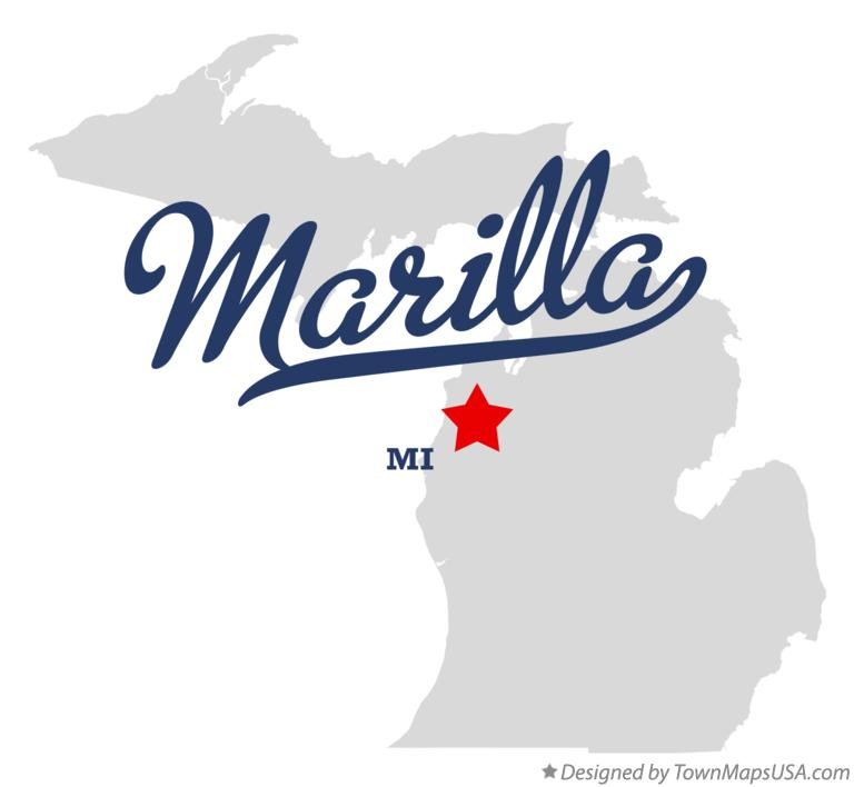 Map of Marilla Michigan MI
