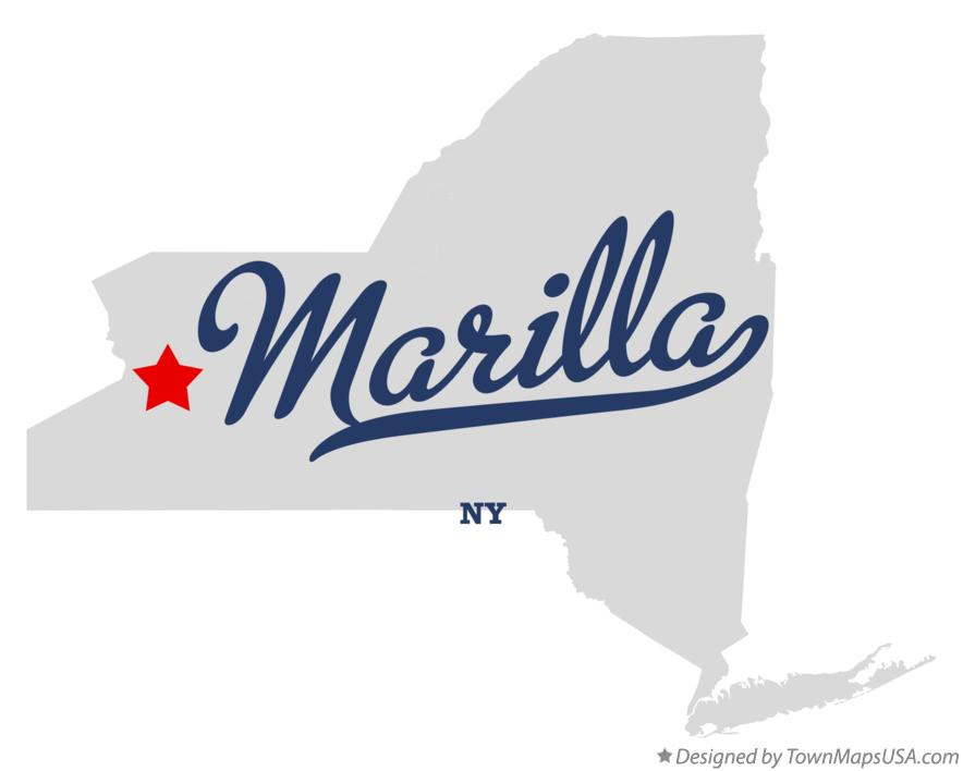 Map of Marilla New York NY