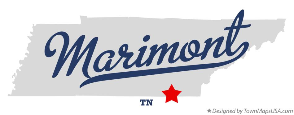 Map of Marimont Tennessee TN