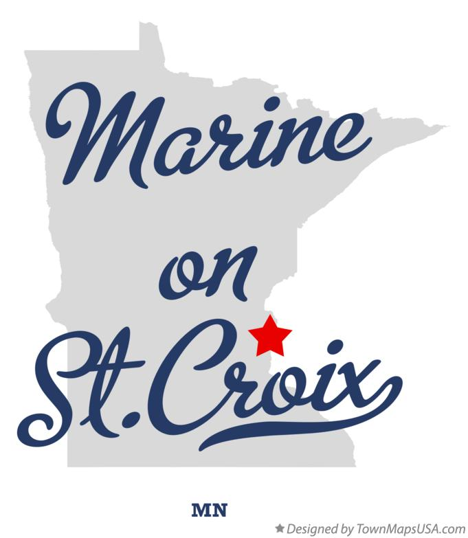 Map of Marine on St.Croix Minnesota MN