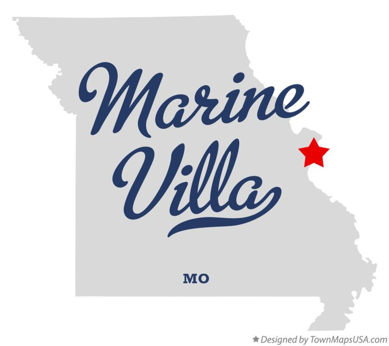 Map of Marine Villa Missouri MO