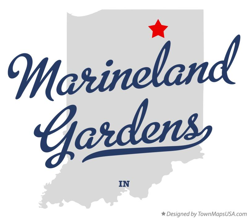 Map of Marineland Gardens Indiana IN