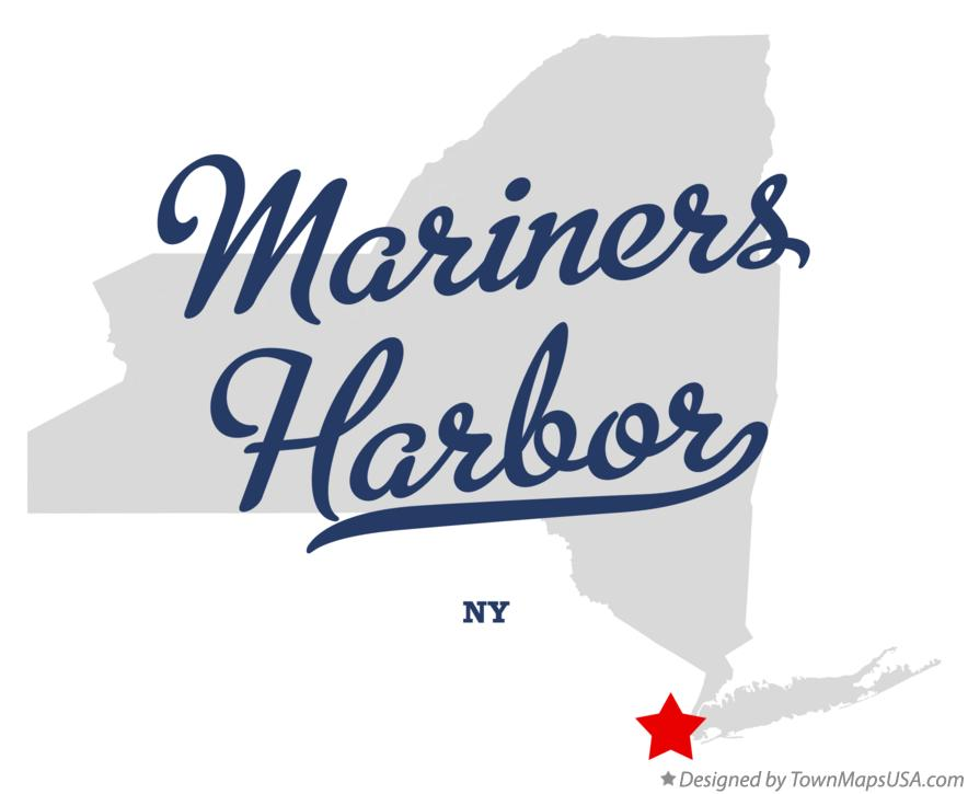 Map of Mariners Harbor New York NY
