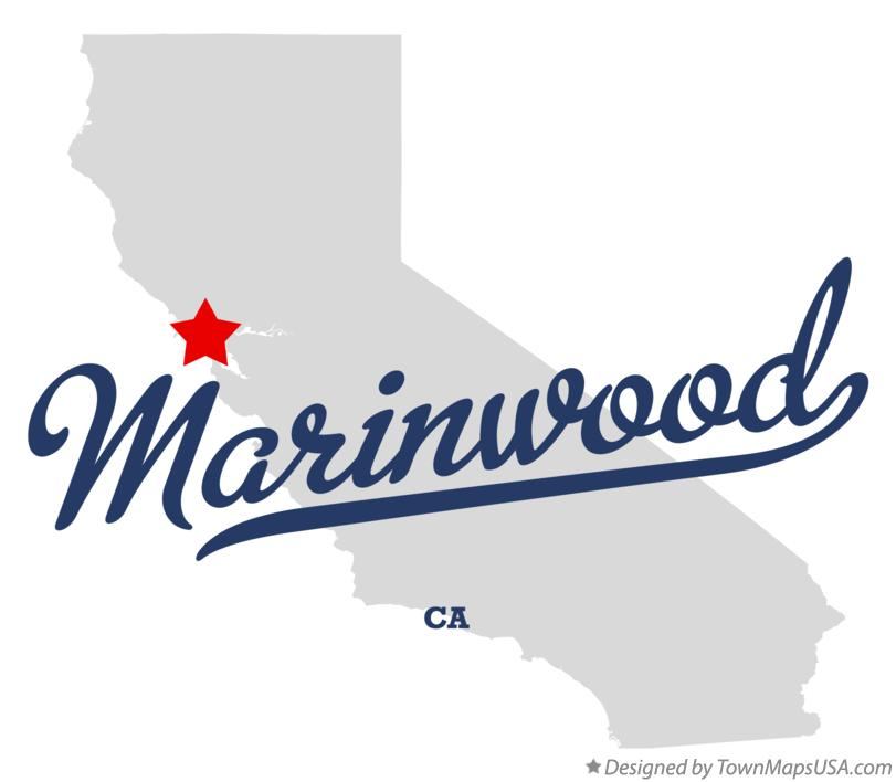 Map of Marinwood California CA