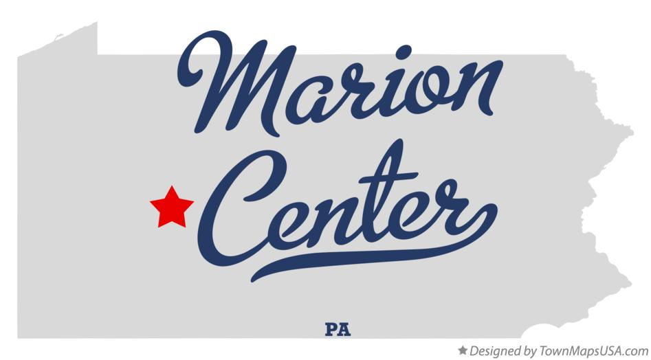 Map of Marion Center Pennsylvania PA