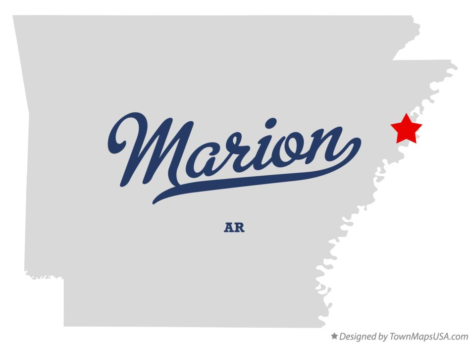 Map of Marion Arkansas AR