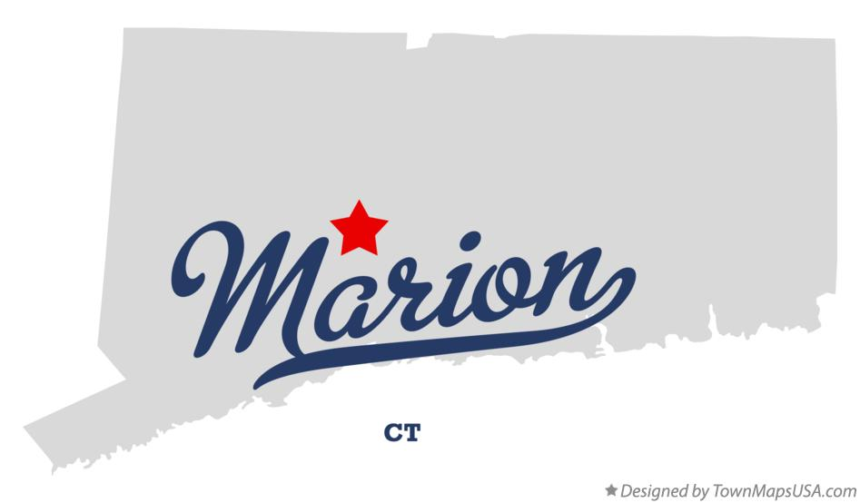Map of Marion Connecticut CT