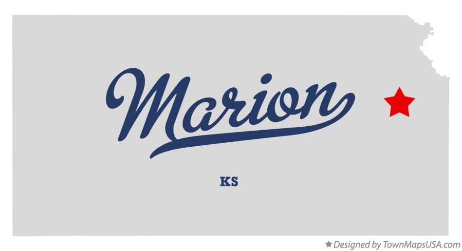 Map of Marion Kansas KS
