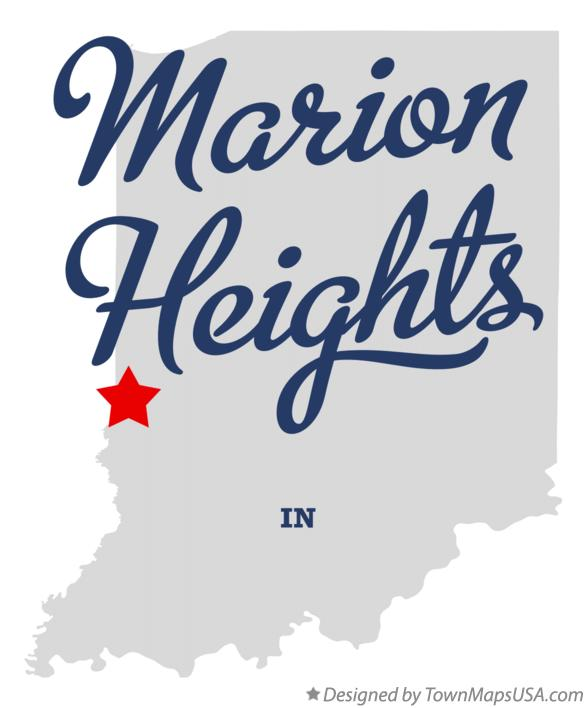 Map of Marion Heights Indiana IN