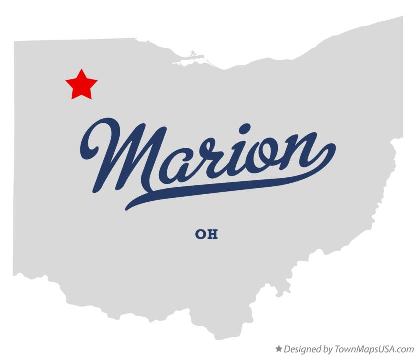 Map of Marion Ohio OH