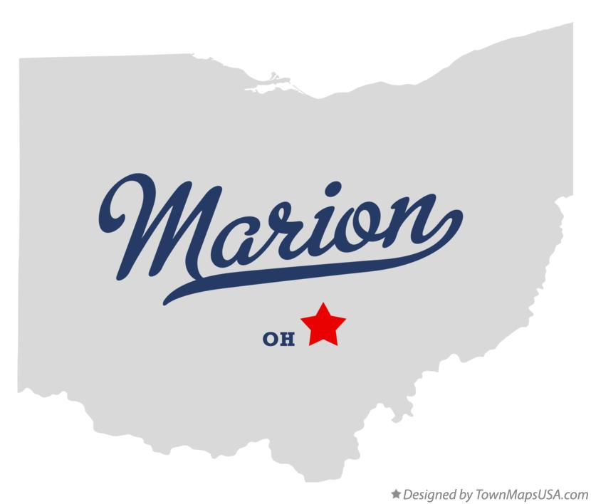 Marion (OH) United States  City new picture : Map of Marion, Hocking County, OH, Ohio