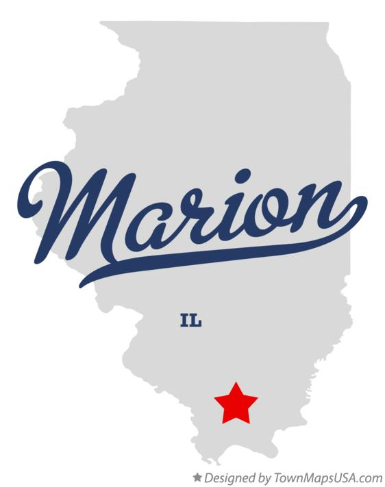 Map of Marion Illinois IL