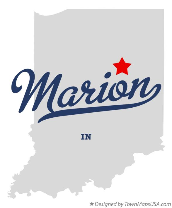 Map of Marion Indiana IN