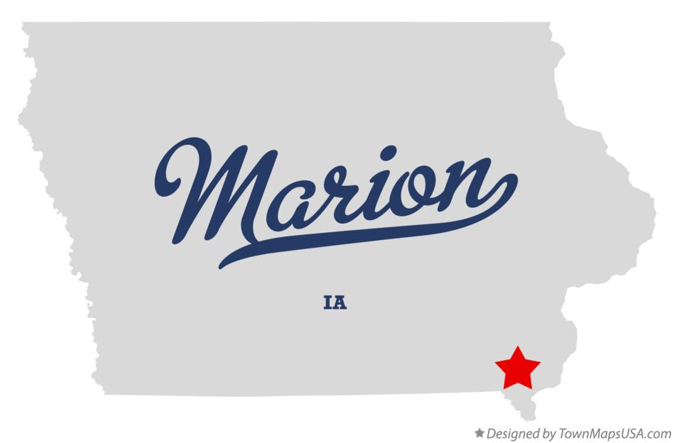 Map of Marion Iowa IA