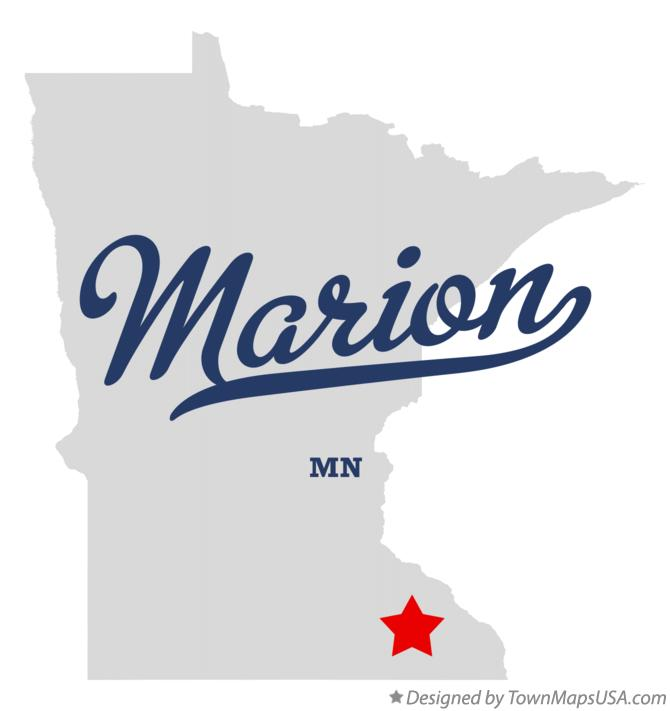 Map of Marion Minnesota MN
