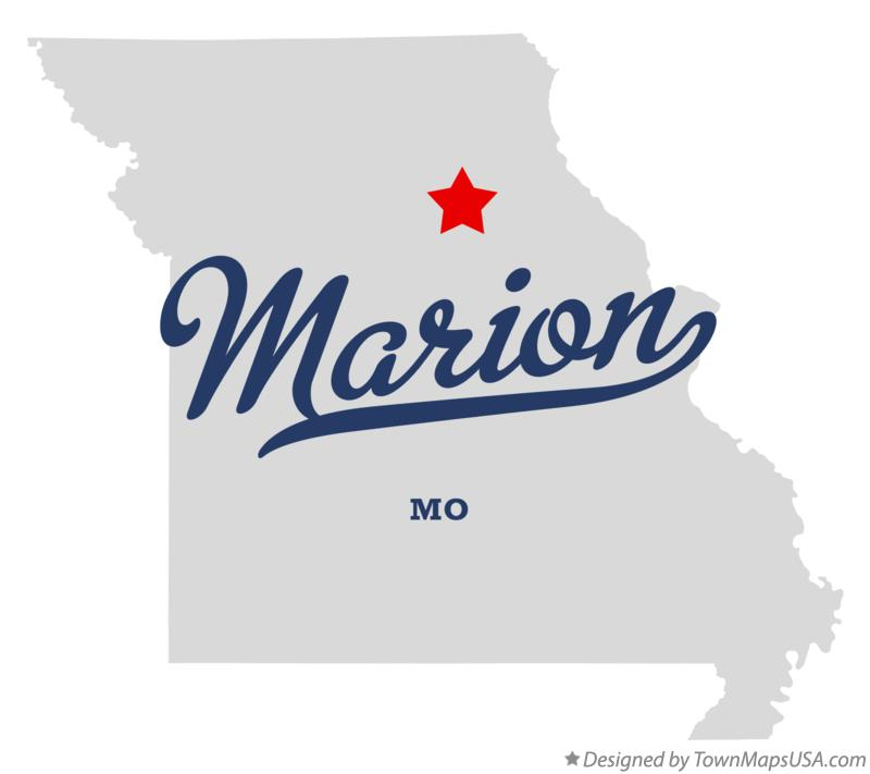 Map of Marion Missouri MO