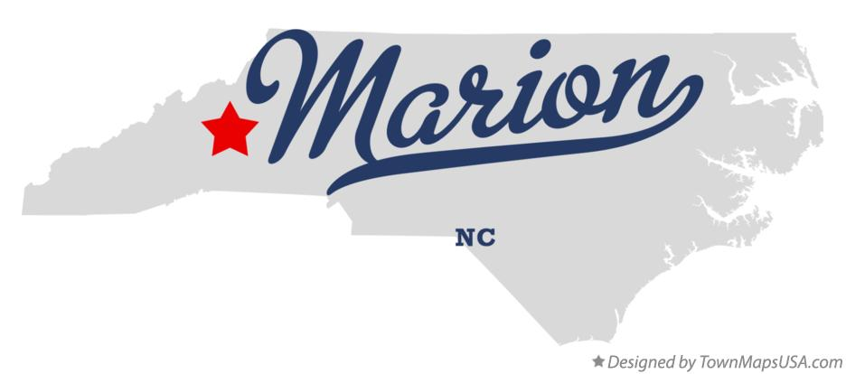 Map of Marion North Carolina NC