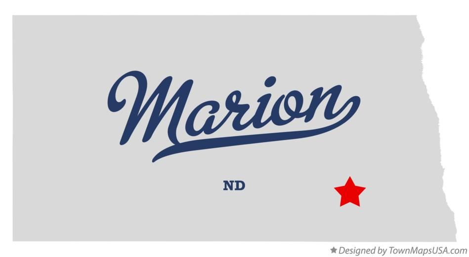 Map of Marion North Dakota ND