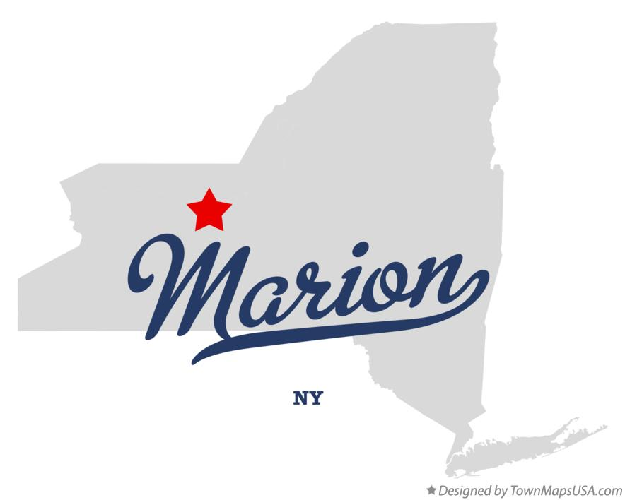 Map of Marion New York NY