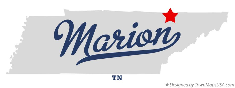Map of Marion Tennessee TN