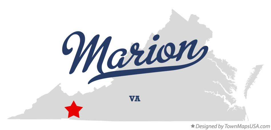 Marion Virginia Map.Map Of Marion Va Virginia