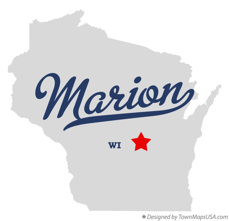 Map of Marion Wisconsin WI