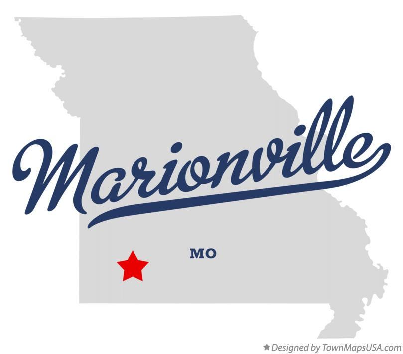 Map of Marionville Missouri MO