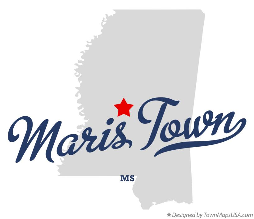 Map of Maris Town Mississippi MS