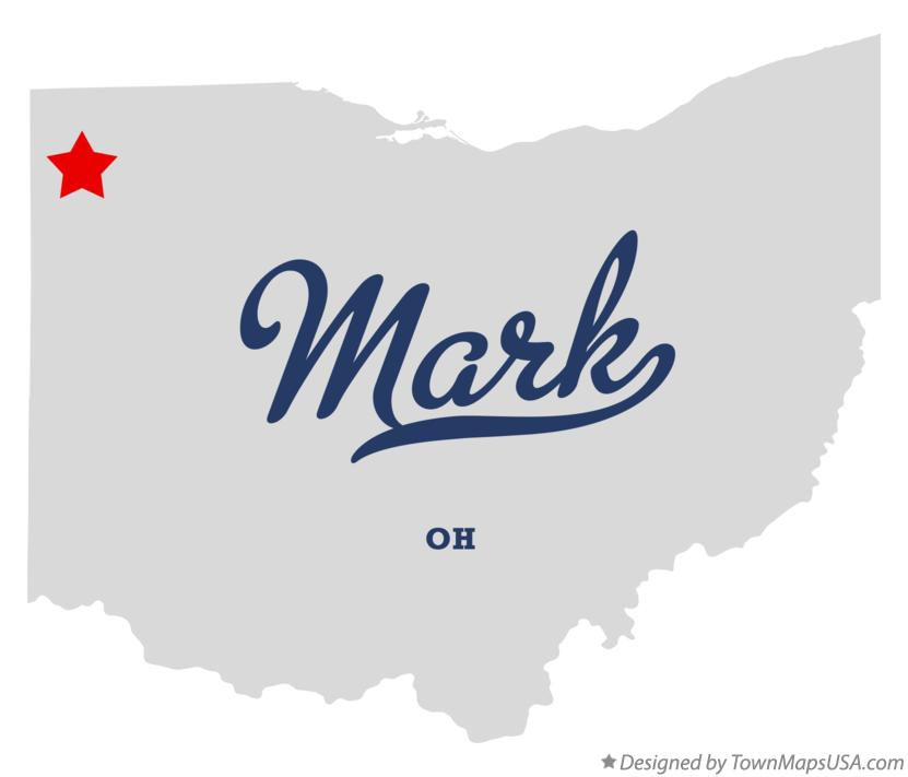 Map of Mark Ohio OH