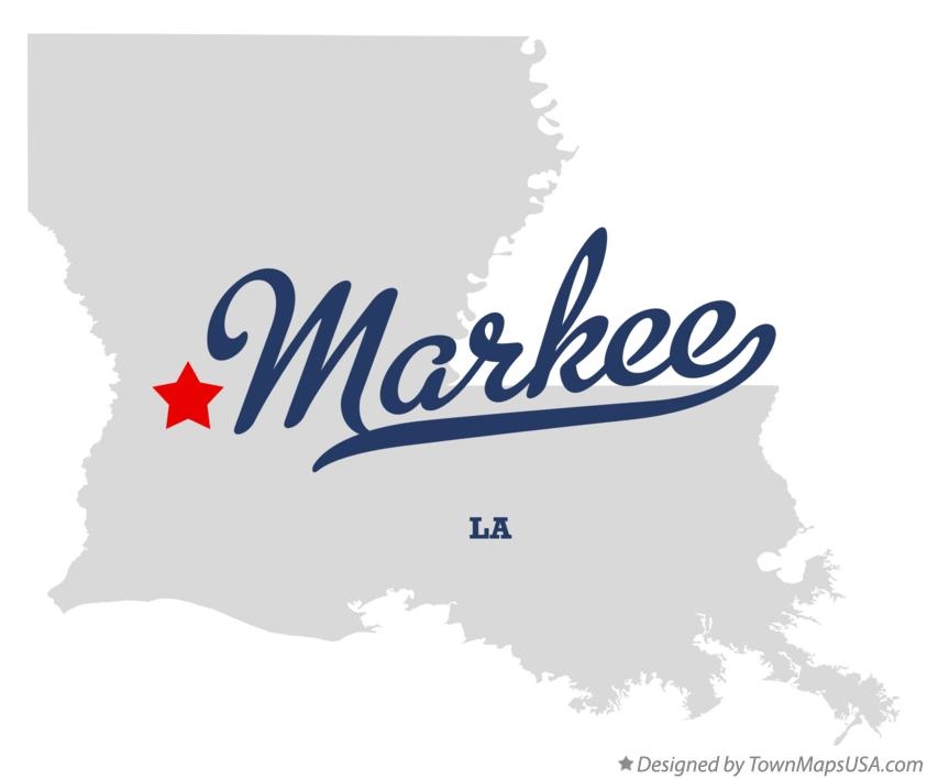 Map of Markee Louisiana LA