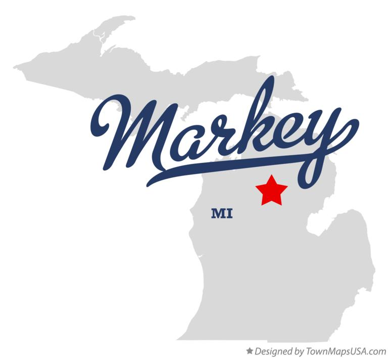 Map of Markey Michigan MI