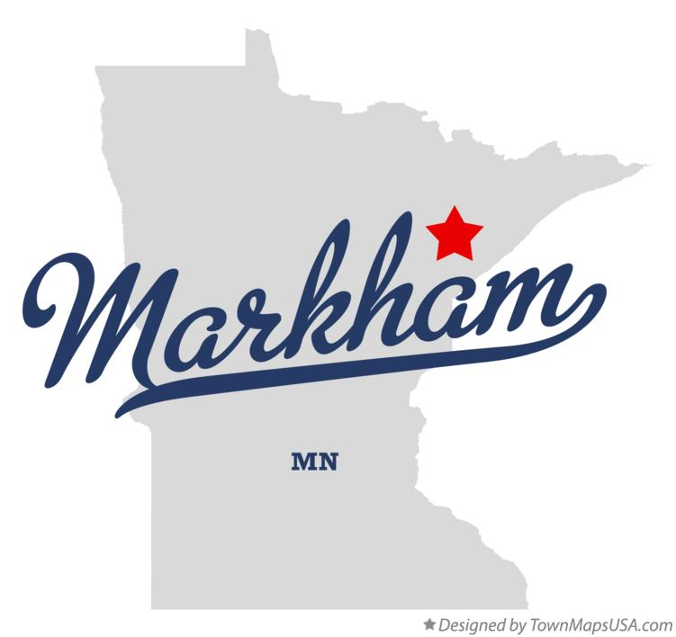 Map of Markham Minnesota MN