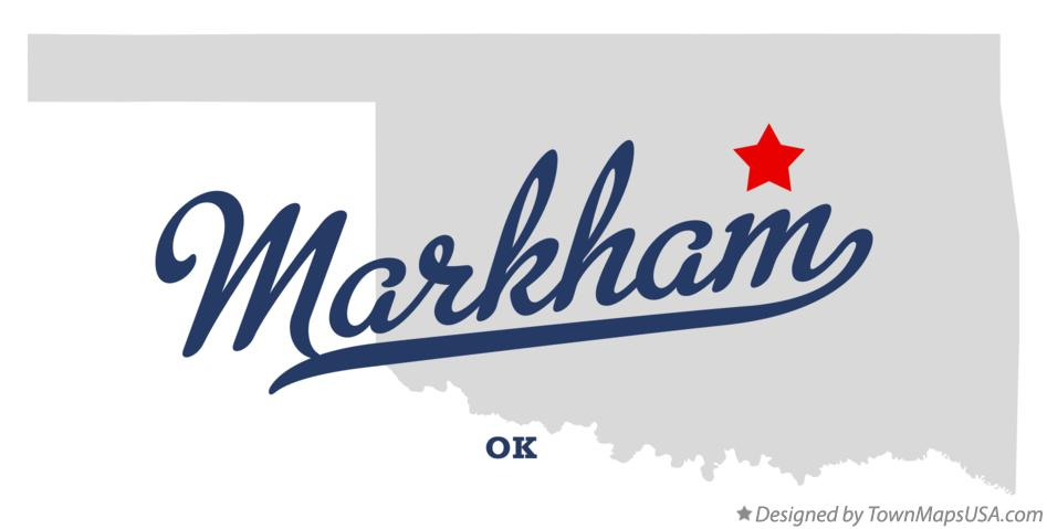 Map of Markham Oklahoma OK