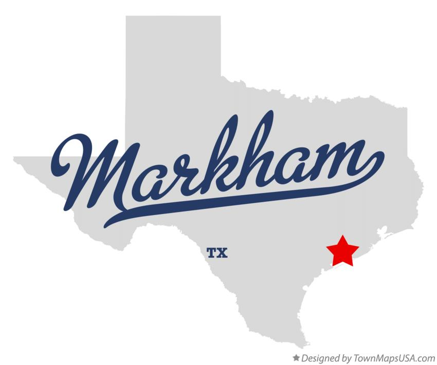 Map of Markham Texas TX