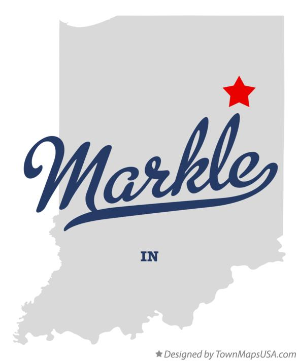 Map of Markle Indiana IN