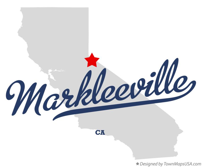 Map of Markleeville California CA