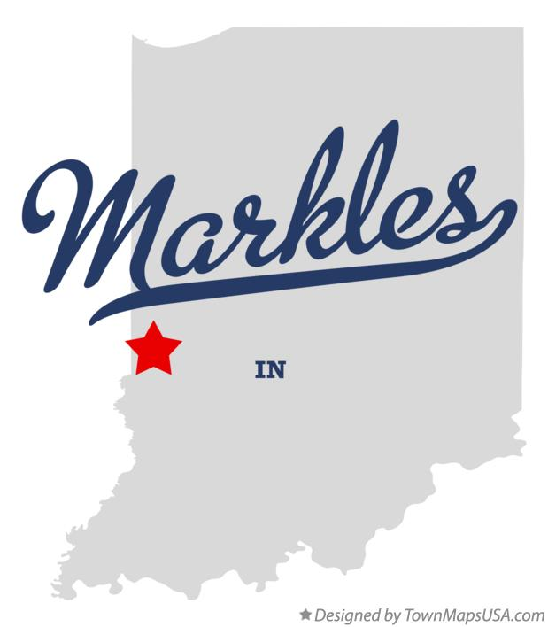 Map of Markles Indiana IN