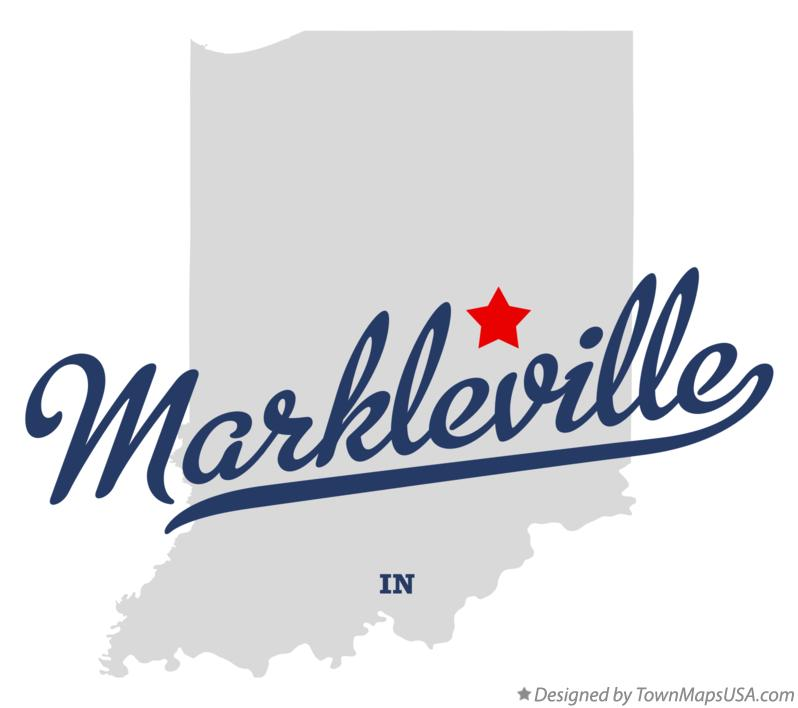 Map of Markleville Indiana IN