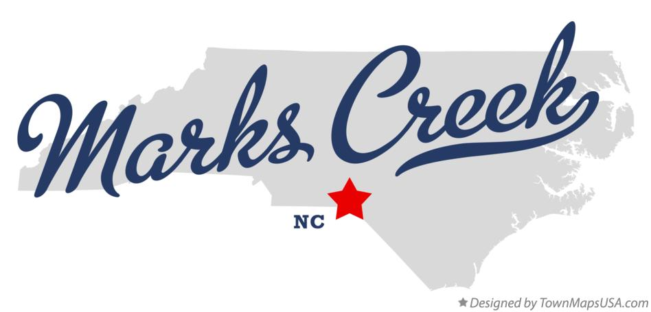 Map of Marks Creek North Carolina NC